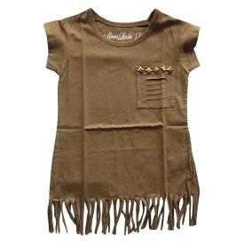 夏SALE 女の子 フリンジTシャツ半袖Tシャツ ラスタマニス90cm 100cm