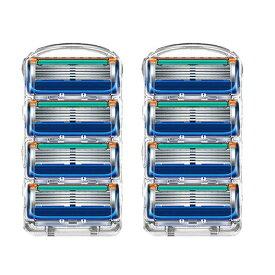 ジレット フュージョン 5 替刃 8個set Gillette Fusion 互換品 5枚歯 かみそり 剃刀 替え刃 ヘッド