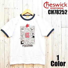 チェスウィック 'LOONEY TUNE'S RACING'プリントリンガーTシャツ CHESWICK EASY NAVY CH78252 メンズ アメカジ あす楽