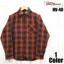 デラックスウエア 'UNION RED'チェックネルシャツ DELUXEWARE EASY NAVY HV-40 長袖 国産 日本製 メンズ アメカジ あ…