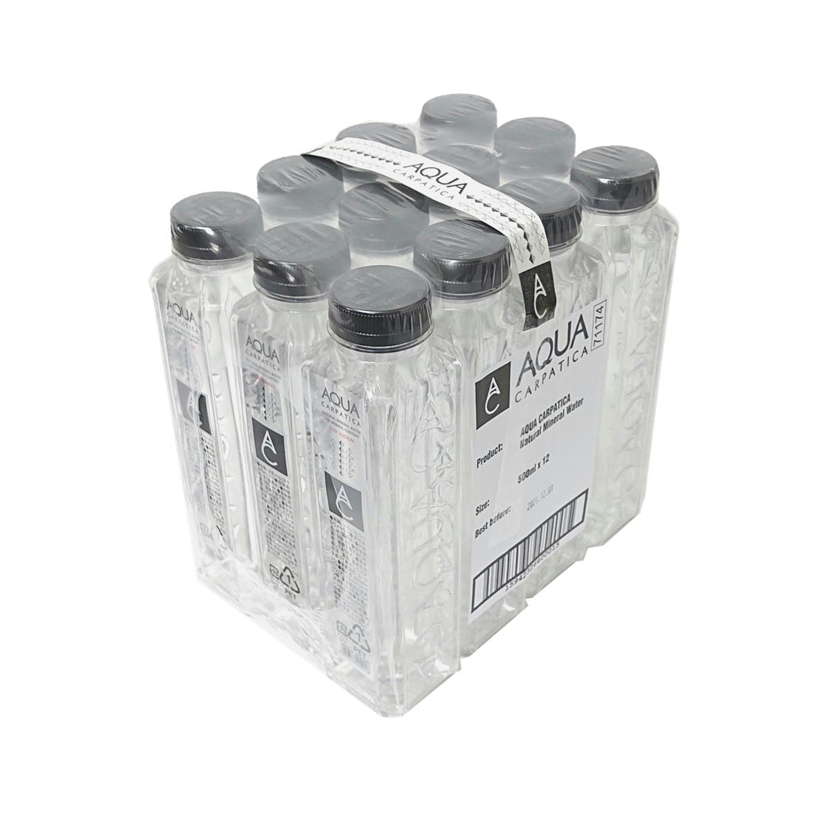 【正規輸入品】【EU産ミネラルウォータ】AQUA CARPATICA アクアカルパチカ (アクアカルパティカ) 500ml PETボトル ×12本 【ルーマニア 水 ミネラルウォーター】