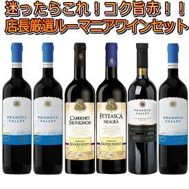 【当店単品価格合計より半額50%OFF】【送料無料】【ルーマニアワインセット】貴族御用達として知られるサンブレスティのワイン&当店売れ筋赤ワイン4種の飲み比べ赤ワイン6本セット