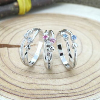 Eau-Rouge  Pinky ring SILVER925 Delux twin frame pinky ring Swarovski  Crystal silver No.1 No.3 No.5 No.7 pinky ring  8921450d41