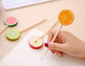 【メール便】まんまるフルーツペン キウイ オレンジ りんご すいか ボールペン かわいい オフィス プチギフト プレゼント 目立つ インスタ映え カラフル ジューシー おいしそう