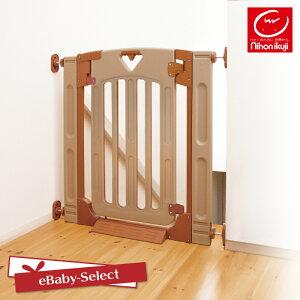 日本育児 スマートゲイト2 プラス 階段上でも使用できる扉付きゲート