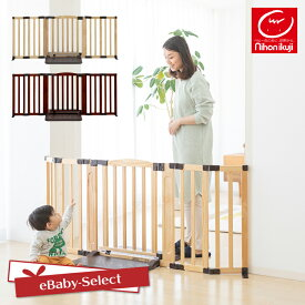 日本育児 おくだけドアーズWoody-Plus Lサイズ すべり止めマット付き ナチュラル/ダークブラウン