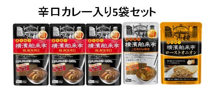 エバラ 横濱舶来亭【辛口カレー入り5袋セット】