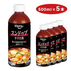 【業務用】スンドゥブチゲの素 500ml×5本セット送料無料 エバラ