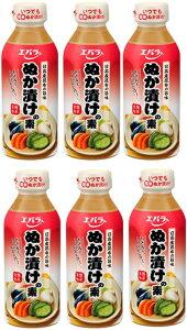 【スーパーDEAL対象】野菜 調味料 ぬか漬けの素300ml×6本セット エバラ