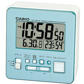 CASIO DQD-805J-2JF(パールブルー) 電波目覚まし時計 温湿度計付き