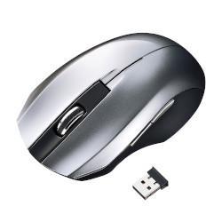 サンワサプライ MA-WBL33S(シルバー) ワイヤレス BlueLEDマウス 5ボタン