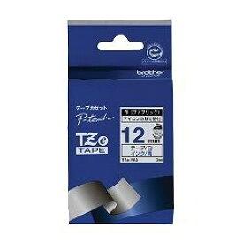 ブラザー TZe-FA3 ピータッチ 布テープ 青文字/白 12mm