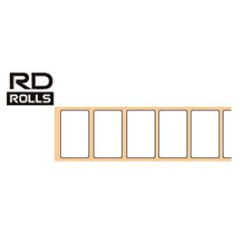 ブラザー RD-U05J1 RDロール プレカット紙ラベル 50mm x 30mm