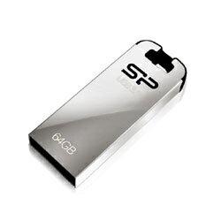 シリコンパワー SP016GBUF3J10V1K(シャイニーシルバー) Jewel J10 USBメモリ 16GB