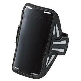 エレコム P-ABC02BK(ブラック) スポーツアームバンド スマートフォン用 Lサイズ