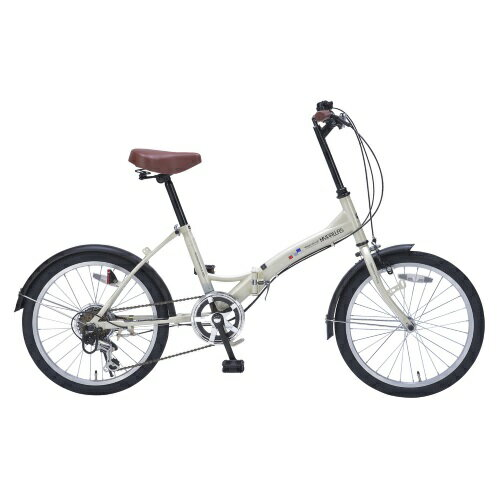 マイパラス M-209IV(アイボリー) 折畳自転車 20インチ 6段ギア