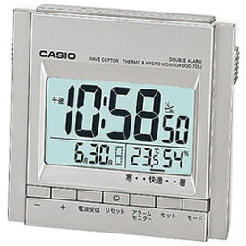 CASIO DQD-705J-8JF(チタニウムシルバー) 電波目覚まし時計