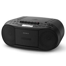 ソニー CFD-S70-B(ブラック) CDカセットレコーダー ワイドFM対応