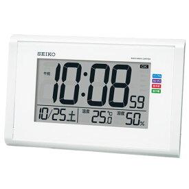0593cd34c0 セイコー SQ439W(白パール) 電波掛け置兼用時計 SQ439Wポータブル 熱中症対策