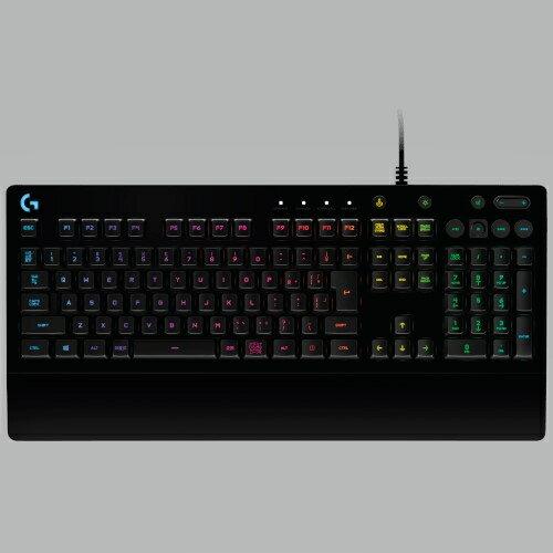 ロジクール Logicool G213(ブラック) RGB ゲーミングキーボード 有線 108キー 日本語レイアウト G213 e-sports(eスポーツ) ゲーミング(gaming)