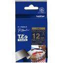 ブラザー TZe-RN34 ピータッチ TZeテープ リボンテープ 金文字/ネイビーブルー 12mm幅