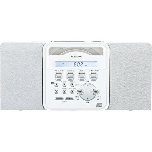 コイズミ SAD-4338/W(ホワイト) ステレオCDシステム ワイドFM対応