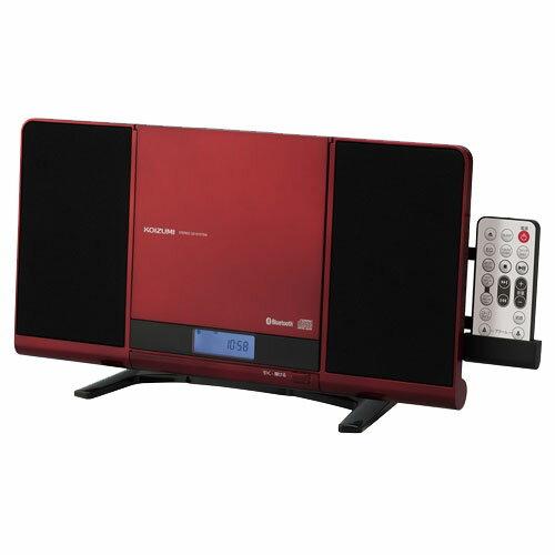 コイズミ SDB-4339/R(レッド) ステレオCDシステム Bluetooth/ワイドFM対応