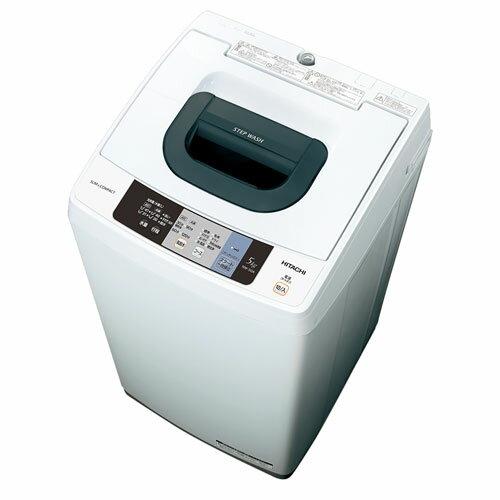 【設置+リサイクル】日立 NW-50A W(ピュアホワイト) 全自動洗濯機 上開き 洗濯5kg