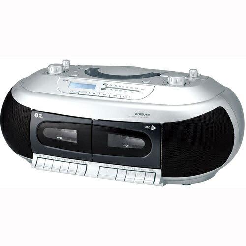 コイズミ SAD-4937/S(シルバー) CDダブルラジカセ ワイドFM対応