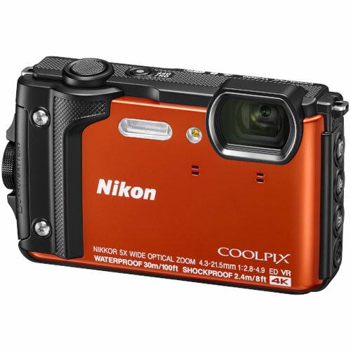 ニコン Nikon コンパクトデジタルカメラ 防水 COOLPIX W300(オレンジ) クールピックス/コンデジ/水深30mまで対応/耐衝撃/方位/高度/水深/4K動画