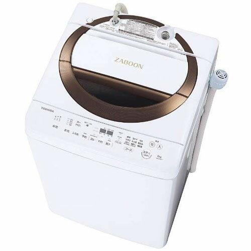 【設置】東芝 AW-6D6-T(ブラウン) 全自動洗濯機 上開き 洗濯6kg