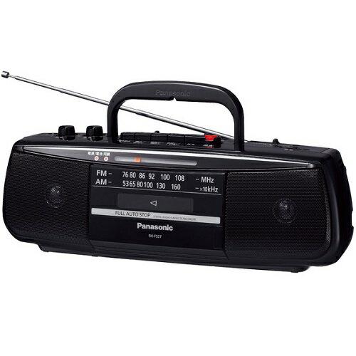 パナソニック RX-FS27-K(ブラック) ステレオラジオカセットレコーダー ワイドFM対応