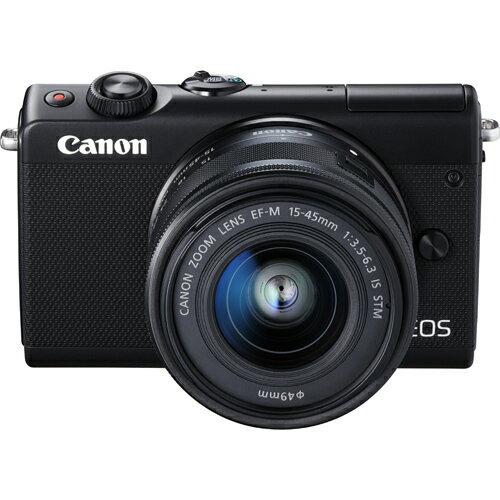 キヤノン(Canon) ミラーレス一眼カメラ EOS M100 EF-M15-45 IS STMレンズキット(ブラック) 自撮り/上側180度チルト