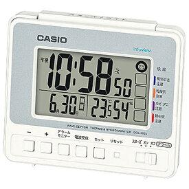 CASIO DQL-250J-8JF(シルバー) 電波目覚まし時計 DQL-250Jシリーズ DQL250J8JFポータブル 熱中症対策 アウトドア 外出 気温 湿度 散歩 日焼け 太陽