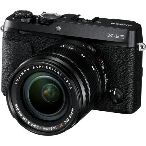 富士フイルム FUJIFILM ミラーレス一眼カメラ X-E3 レンズキット ブラック Xシリーズ/ファインダー付/タッチパネル対応/2430万画素/X-TransTM CMOS III/X-Processor Pro/4K動画撮影