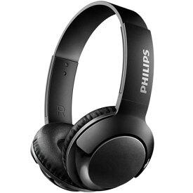 フィリップス(PHILIPS) Bass+ マイク付き密閉型オンイヤーワイヤレスヘッドホン SHB3075BK(ブラック)