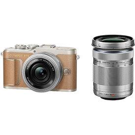 【長期保証付】OLYMPUS オリンパス ミラーレス一眼カメラ PEN E-PL9 EZダブルズームキット(ブラウン) 4K動画