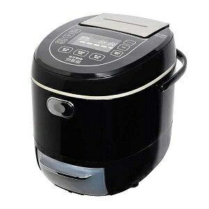 サンコー Thanko LCARBRCK(ブラック) 糖質カット炊飯器 6合 LCARBRCK 人気 炊飯ジャー ジャー炊飯器 ダイエット 糖質制限 おすすめ 簡単操作 面白い 話題