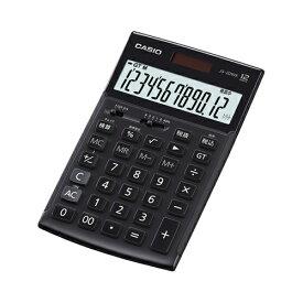 CASIO JS-20WK-MBK(ブラック) 実務電卓 12桁