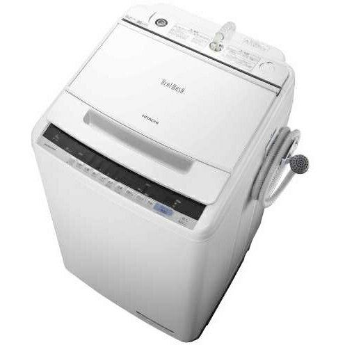 【設置+長期保証】日立 BW-V80C-W(ホワイト) ビートウォッシュ 全自動洗濯機 上開き 洗濯8kg