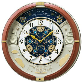 セイコー RE601B(茶メタリック) からくり・アミューズ 掛時計