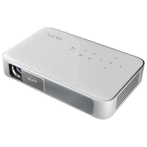 AddTron Q38-WH(ホワイト) Vivitek LEDモバイルプロジェクター 600lm FULL HD