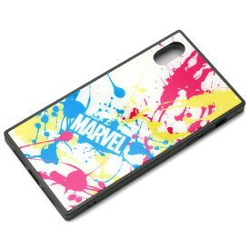 PGA PG-DCS635WH(スプラッシュロゴ/ホワイト) iPhone XS Max用 ハイブリッドケース MARVEL