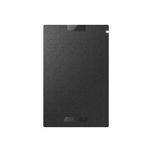 バッファロー SSD-PG480U3-BA(ブラック) ポータブルSSD 480GB USB3.1(Gen1) /3.0/2.0接続 耐衝撃