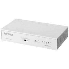 バッファロー LSW6-GT-5NS/WH(ホワイト) Giga対応スイッチングハブ 電源内蔵 5ポート