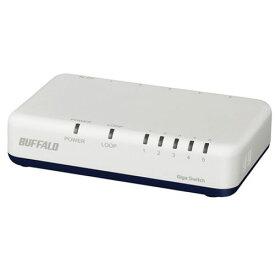 バッファロー LSW6-GT-5EPL/WH(ホワイト) Giga対応スイッチングハブ 5ポート