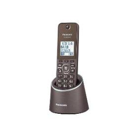 パナソニック VE-GZS10DL-T(ブラウン) コードレス電話機 充電台付 親機 子機1台
