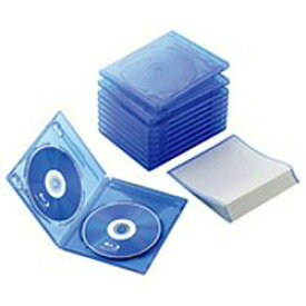 エレコム CCD-BLU210CBU(クリアブルー) Blu-rayディスクケース 2枚収納 10セット