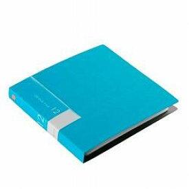 バッファロー BSCD01F24BL(ブルー) CD/DVDファイルケース ブックタイプ 24枚収納