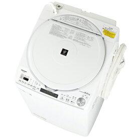 【標準設置料金込】【送料無料】シャープ SHARP ES-TX8E-W(ホワイト系) タテ型洗濯乾燥機 上開き 洗濯8kg/乾燥4.5kg ESTX8EW[代引・リボ・分割・ボーナス払い不可]